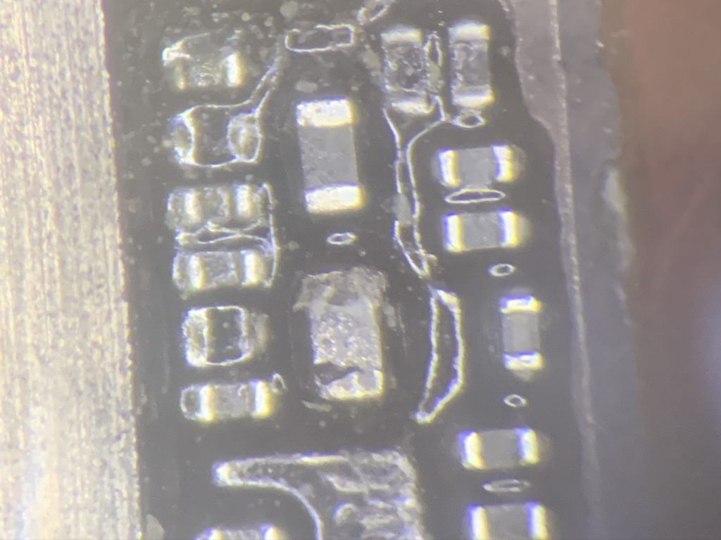 iPhone 8 plus rear camera power capacitor